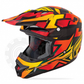 Шлем Fly Racing Kinetic Block Out оранжево/черный глянец размер M