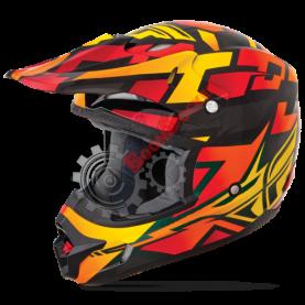Шлем Fly Racing Kinetic Block Out оранжево/черный глянец размер XXL