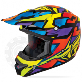 Шлем Fly Racing Kinetic Block Out синий/черный глянец размер M
