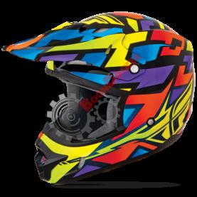 Шлем Fly Racing Kinetic Block Out синий/черный глянец размер XXL