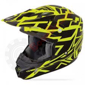 Шлем Fly Racing Kinetic Block Out желтый/черный матовый размер XXL