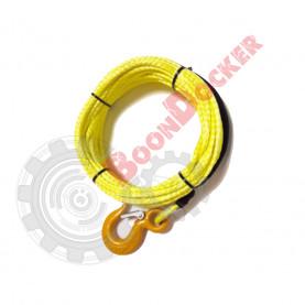 000001410 Трос синтетический Dyneema 5 мм - 15 метров для лебедок 3000-3500 в сборе с крюком