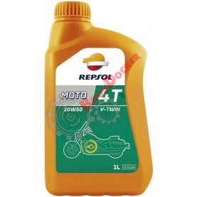 Масло моторное минеральное REPSOL MOTO V-TWIN 4T 20W-50 1 литр