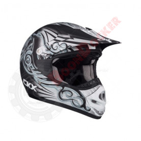 """Шлем кроссовый """"CKX TX218 WHIP"""" черный/серый/белый размер M"""