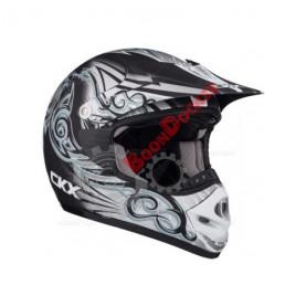 """Шлем кроссовый """"CKX TX218 WHIP"""" черный/серый/белый размер XS"""