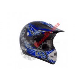 """Шлем кроссовый """"CKX TX218 WHIP"""" черный/синий/белый размер S"""