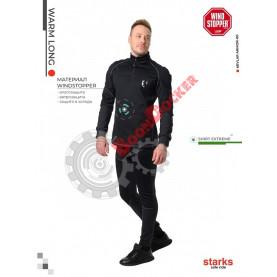 Кофта мужская Starks Wear Warm Long shirt Extreme черно/серая размер XXL