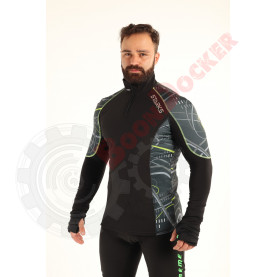 Фуфайка SARKS WARM Long shirt Extreme V2, муж, размер XXL, черно-серый