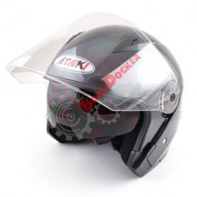 Шлем Ataki OF512 Carbon черно-серый глянцевый, размер M