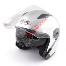 Шлем Ataki OF512 Solid серебристый глянцевый, размер XL
