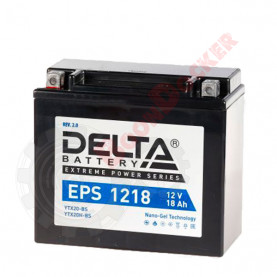 YTX20H-BS YTX20BS Аккумулятор DELTA EPS1218 YTX20BS/YTX20H-BS,  (176x87x154)