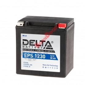 YTX30L-BS 30 Аккумулятор DELTA EPS CT1230 YTX30L-BS 30 А/ч  (Размер (ДхШхВ) мм: 168x126x176)