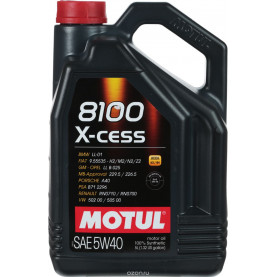 102870 масло MOTUL X-CESS 4T 5W-40 5л.