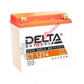 Аккумулятор Delta CT 1214 12V/14Ah прямая +/- 151X88X147 mm YTX14BS/CT 1214/YTX14H-BS/YTX16-BS/YB16B-A