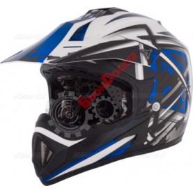 "Шлем кроссовый ""CKX TX529 LEAK"" синий размер L"