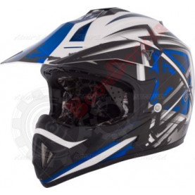 Шлем кроссовый CKX TX529 Leak синий размер M