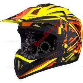 """Шлем кроссовый """"CKX TX529 LEAK"""" терракотовый, размер L"""