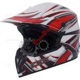 Шлем кроссовый CKX TX696 Jazz бело/красный размер M