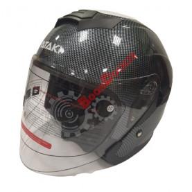 Шлем Ataki JK526 Carbon черно/серый глянцевый размер S 020229-823-5665