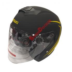 Шлем Ataki JK526 Stripe черно/Hi-Vis желтый матовый размер S 020229-823-5955