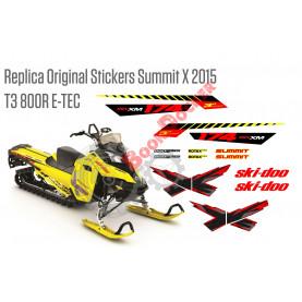 Реплика оригинальных наклеек Summit X 800R E-TEC T3 2015