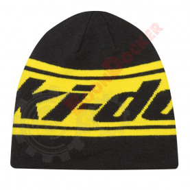 Шапка двусторонняя Ski-Doo Reversable Beanie черно-желтая One size 4475770096