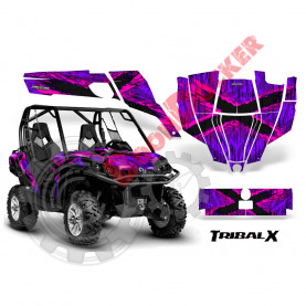 Наклейки Can-Am-Commander-CreatorX-Graphics-Kit-TribalX-Pink-Purple-BB