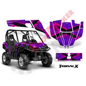 Наклейки Can-Am-Commander-CreatorX-Graphics-Kit-TribalX-Pink-Purple-BB