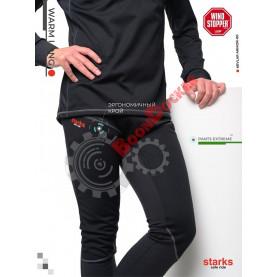 Кальсоны мужские Starks Warm Pants Extreme черно/серые размер XXL
