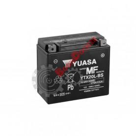 Аккумулятор YUASA AGM YTX20L-BS 12V/18Ah обратная -/+ 175X87X155 mm YTX20L-BS
