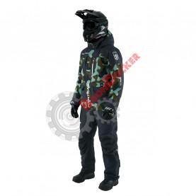 Костюм снегоходный курка+штаны Finntrail Powerman 3752 CamoArmy черно-зеленый размер L