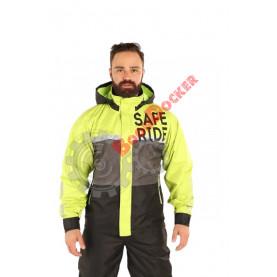 Дождевая куртка Dry Rain DR 219 мужская серо/салатовые, размер XXXL