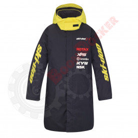 Утепленное спортивное пальто Ski-Doo Warm-Up Coat черно-желтое One size 4408800090