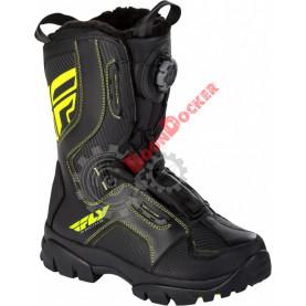 """Ботинки зимние FLY RACING MARKER BOA черные/Hi-vis желтые 10"""" 140126-928-6506"""