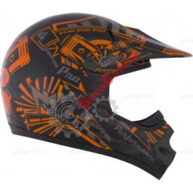 """Шлем кроссовый """"CKX TX218 PURSUIT"""" оранжевый размер S"""