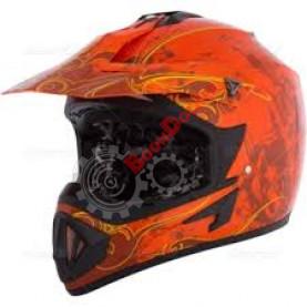 """Шлем кроссовый """"CKX TX529 BLAST"""" оранжевый размер L"""