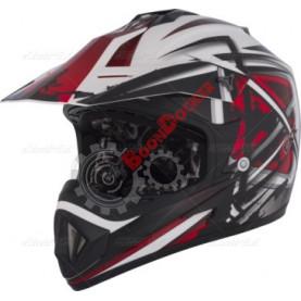 Шлем кроссовый CKX TX529 Leak красный размер XL