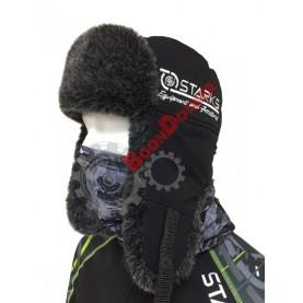Шапка ушанка зимняя Starks Fur Hat черный размер XXL 60/61 см