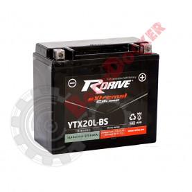 YTX20LBS Аккумулятор R-DRIVE  YTX20LBS (175*87*155)