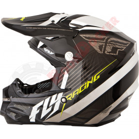 73-4111L Шлем кросс FLY Racing F2 CARBON FASTBACK  размер L 73-4111L