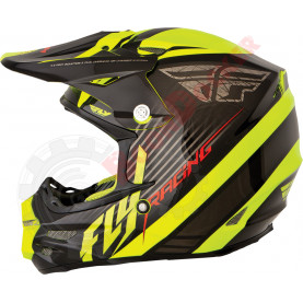 73-4114M Шлем кросс FLY Racing F2 CARBON FASTBACK  размер M 73-4114M