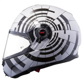 Шлем FF386 ABYSS WHITE BLACK  (XL)