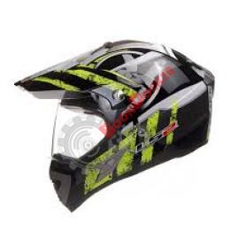 Шлем MX433 STRIPE BLACK  HI-VIS YELLOW (M)