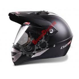 Шлем MX433 STRIPE WHITE VISOR SINGLE MONO MATT BLACK (L)