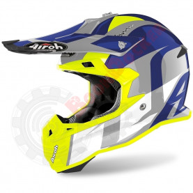 Шлем Airoh Terminator Open Vision shoot blue gloss, размер XL