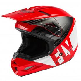 """Шлем KINETIC K220 ECE 2020"""" красный/черный/белый глянец XL"""