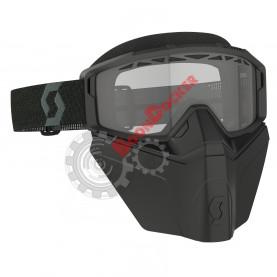 Очки Scott Primal Safari FaceMask Snow черные прозрачная линза SC_278608-0001043, SC_218166-0001029
